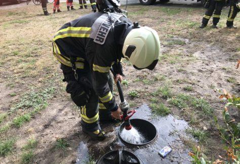 Feuerwehreinsatz durch zündelnde Kinder in Nordhorn