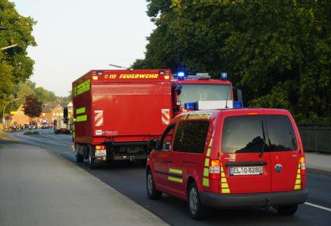 Feuerwehr löscht illegales Osterfeuer in Gildehaus