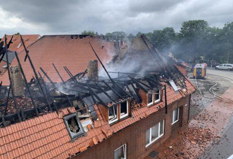 Wohn- und Geschäftshaus in Rhede abgebrannt