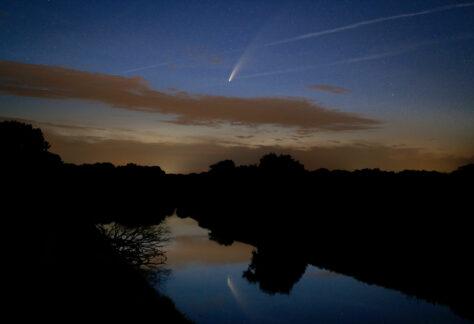 Chefarzt der Radiologie erstellt Fotografien des Nachthimmels über Lingen