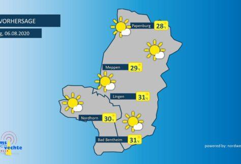 Wetter: Sonne pur und heiße Temperaturen