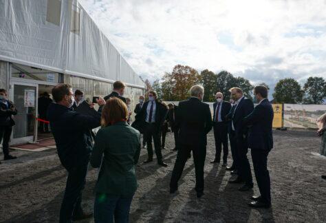 Spatenstich für Schleusenarbeiten in Venhaus und Rodde