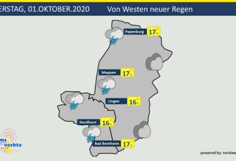 Wetter: Von Westen zieht Regen auf