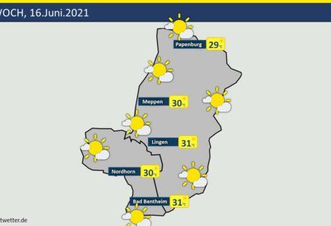 Wetter: Vorhersage für Mittwoch